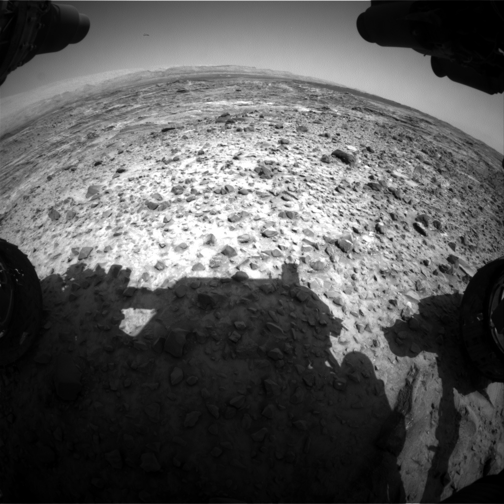 Nasa's Mars rover Curiosity acquired this image using its Front Hazard Avoidance Camera (Front Hazcam) on Sol 1081, at drive 1216, site number 49