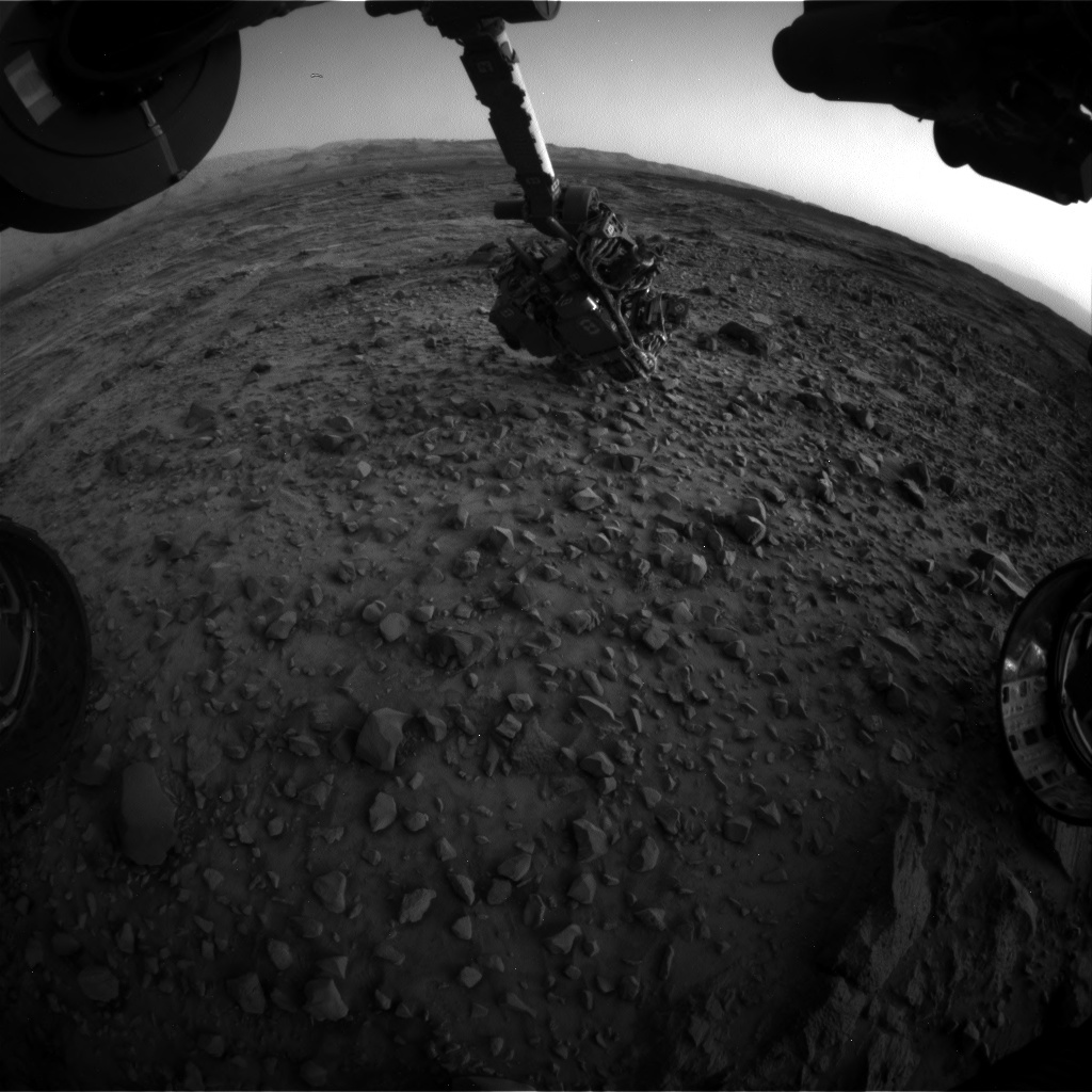 NASA's Mars rover Curiosity acquired this image using its Front Hazard Avoidance Cameras (Front Hazcams) on Sol 1082