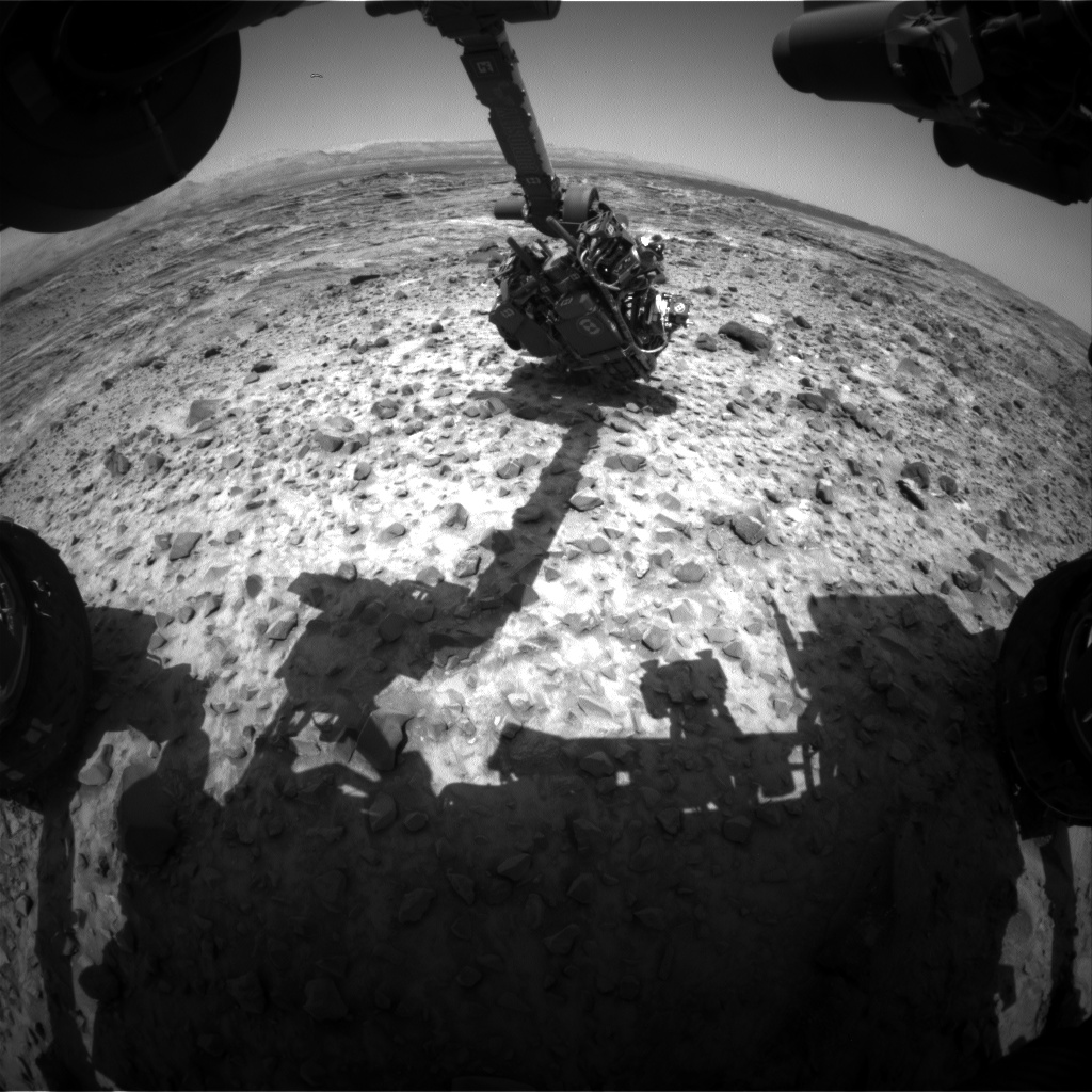 Nasa's Mars rover Curiosity acquired this image using its Front Hazard Avoidance Camera (Front Hazcam) on Sol 1083, at drive 1216, site number 49
