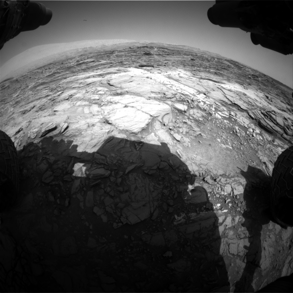 Nasa's Mars rover Curiosity acquired this image using its Front Hazard Avoidance Camera (Front Hazcam) on Sol 1083, at drive 1396, site number 49
