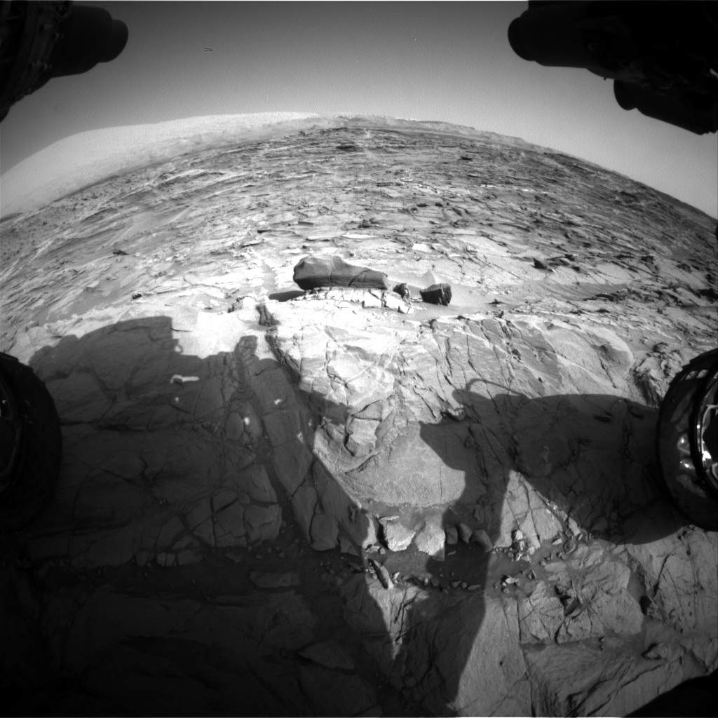 Nasa's Mars rover Curiosity acquired this image using its Front Hazard Avoidance Camera (Front Hazcam) on Sol 1083, at drive 1420, site number 49