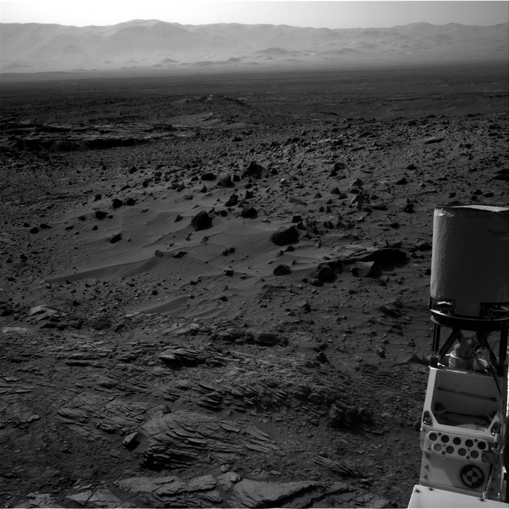 NASA's Mars rover Curiosity acquired this image using its Right Navigation Cameras (Navcams) on Sol 1083