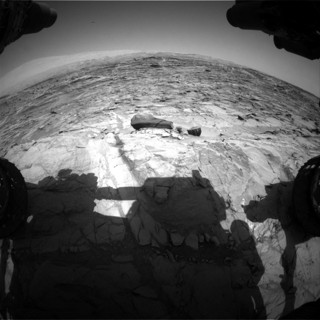 Nasa's Mars rover Curiosity acquired this image using its Front Hazard Avoidance Camera (Front Hazcam) on Sol 1084, at drive 1420, site number 49