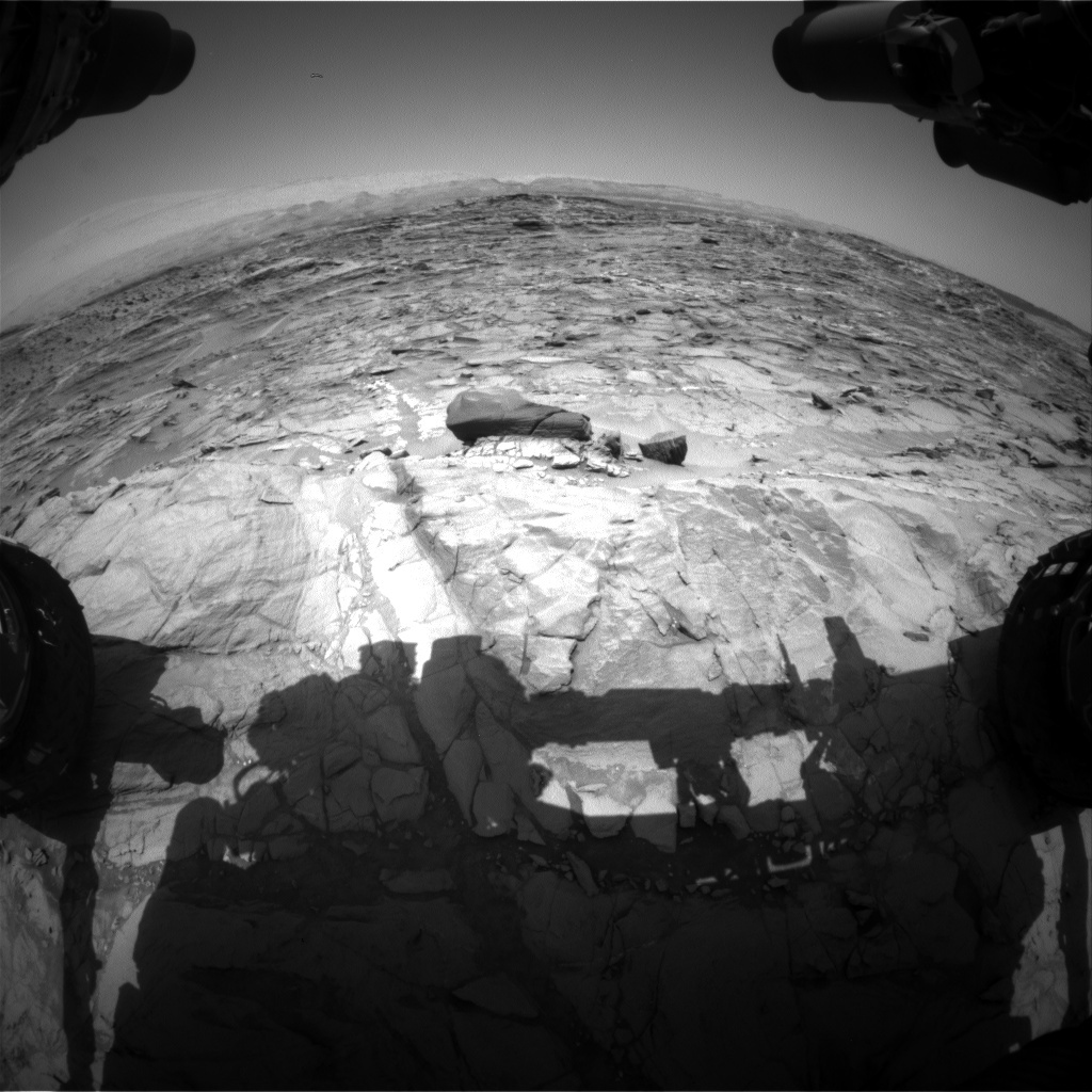 NASA's Mars rover Curiosity acquired this image using its Front Hazard Avoidance Cameras (Front Hazcams) on Sol 1085