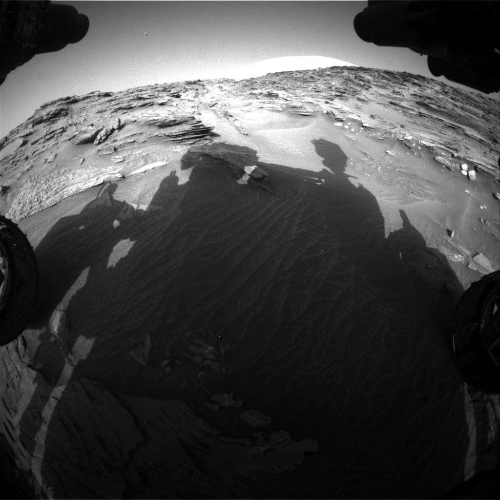 Nasa's Mars rover Curiosity acquired this image using its Front Hazard Avoidance Camera (Front Hazcam) on Sol 1085, at drive 1798, site number 49