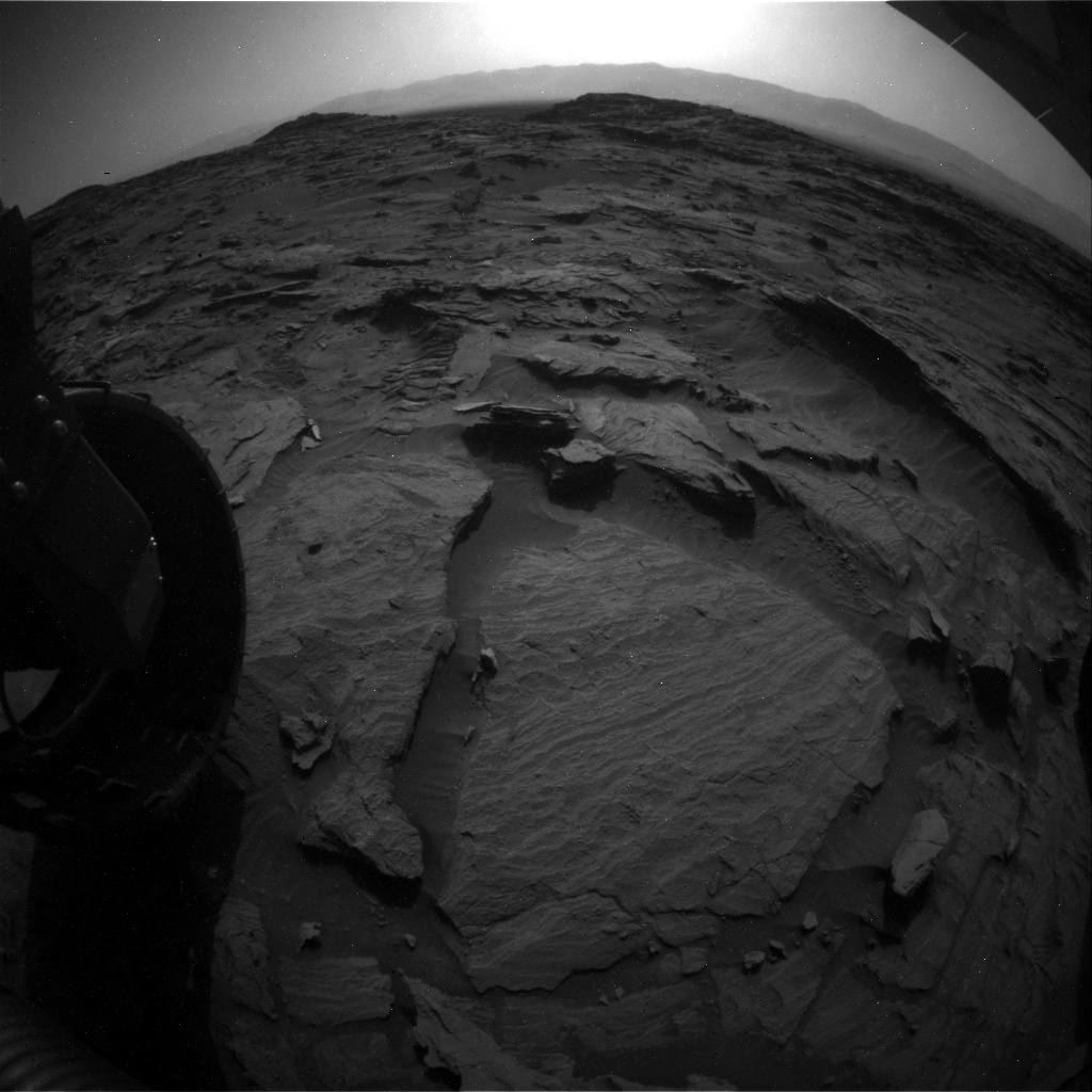 NASA's Mars rover Curiosity acquired this image using its Rear Hazard Avoidance Cameras (Rear Hazcams) on Sol 1085