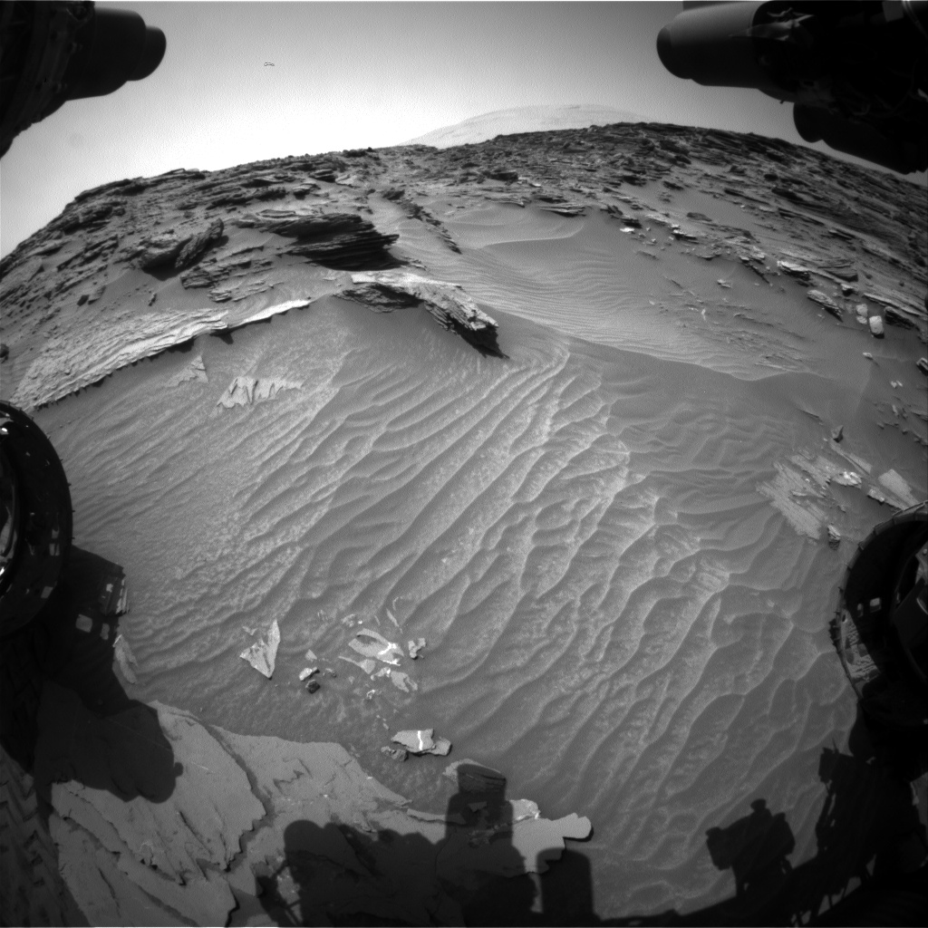 Nasa's Mars rover Curiosity acquired this image using its Front Hazard Avoidance Camera (Front Hazcam) on Sol 1086, at drive 1798, site number 49