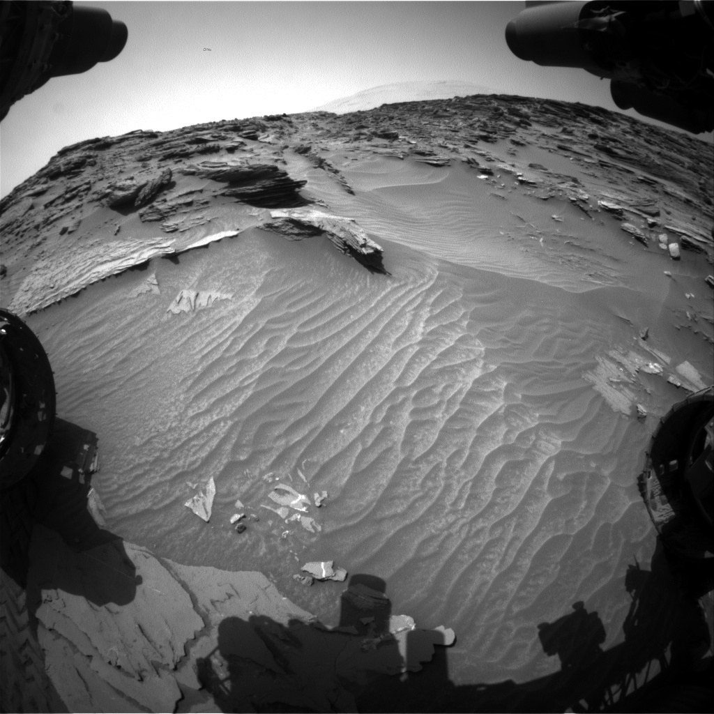 Nasa's Mars rover Curiosity acquired this image using its Front Hazard Avoidance Camera (Front Hazcam) on Sol 1087, at drive 1798, site number 49