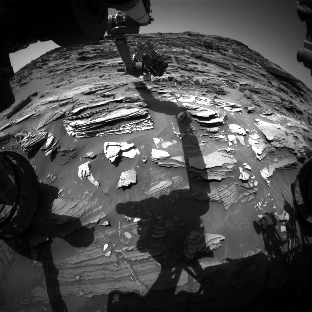 Nasa's Mars rover Curiosity acquired this image using its Front Hazard Avoidance Camera (Front Hazcam) on Sol 1090, at drive 1876, site number 49