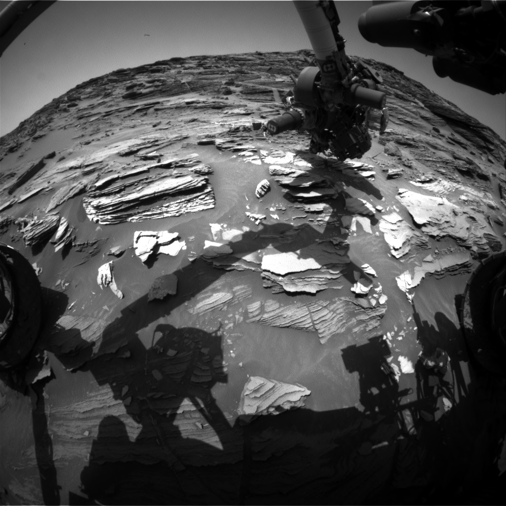 Nasa's Mars rover Curiosity acquired this image using its Front Hazard Avoidance Camera (Front Hazcam) on Sol 1091, at drive 1876, site number 49