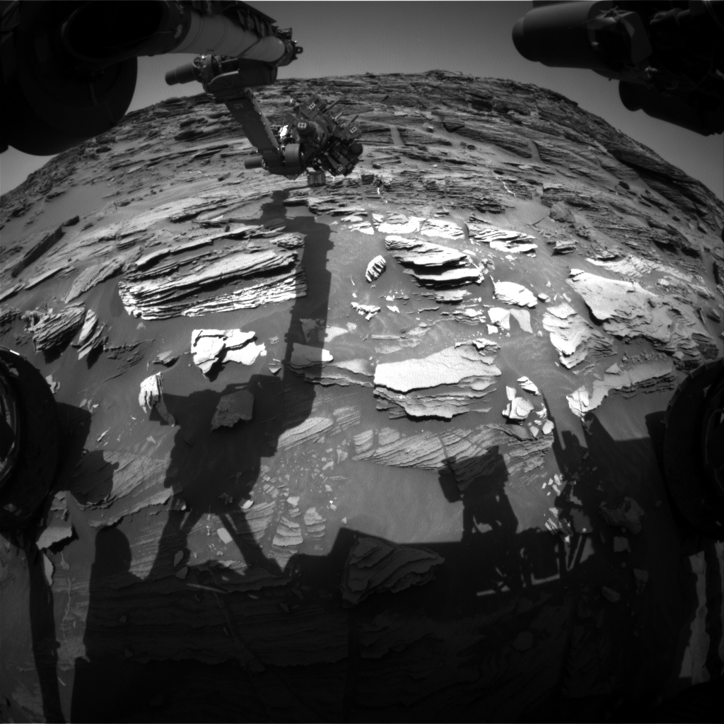 Nasa's Mars rover Curiosity acquired this image using its Front Hazard Avoidance Camera (Front Hazcam) on Sol 1092, at drive 1876, site number 49