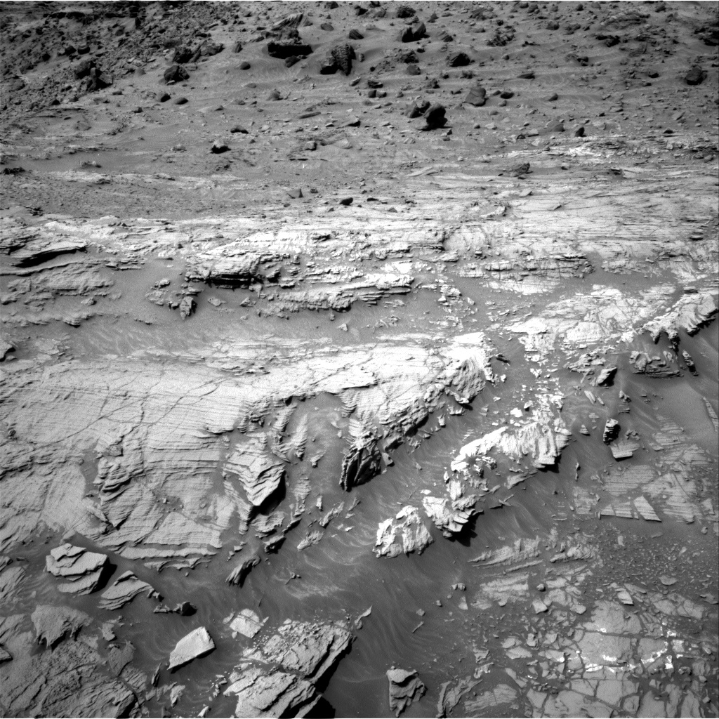 Nasa's Mars rover Curiosity acquired this image using its Right Navigation Camera on Sol 1093, at drive 1990, site number 49