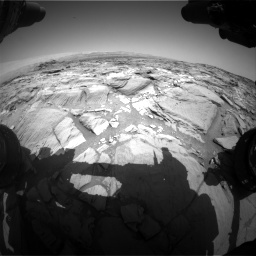Nasa's Mars rover Curiosity acquired this image using its Front Hazard Avoidance Camera (Front Hazcam) on Sol 1094, at drive 2218, site number 49