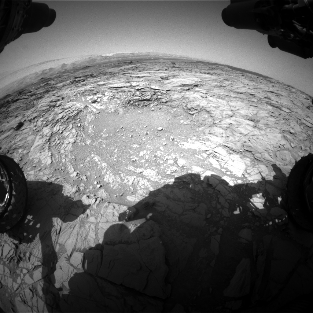 Nasa's Mars rover Curiosity acquired this image using its Front Hazard Avoidance Camera (Front Hazcam) on Sol 1096, at drive 2236, site number 49