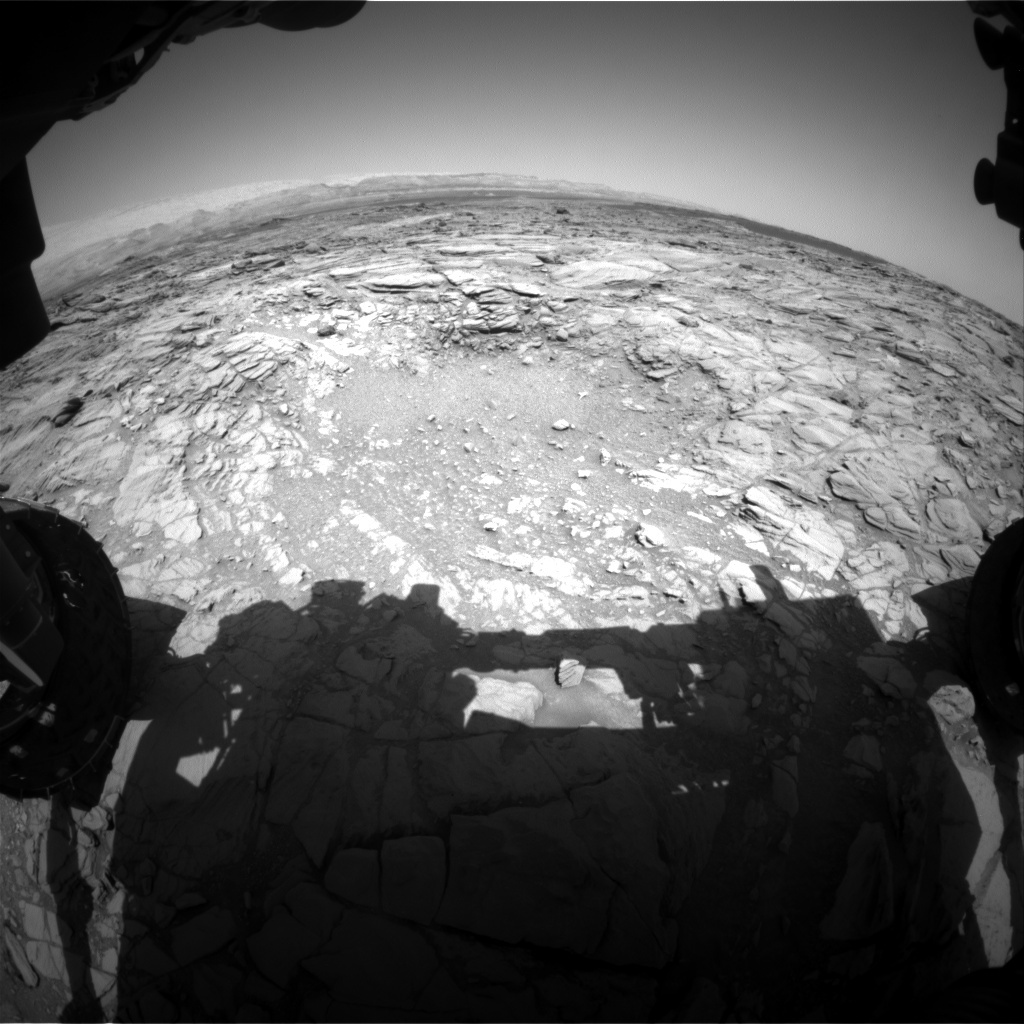 NASA's Mars rover Curiosity acquired this image using its Front Hazard Avoidance Cameras (Front Hazcams) on Sol 1097