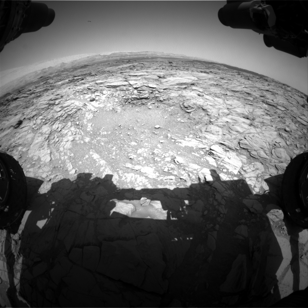 Nasa's Mars rover Curiosity acquired this image using its Front Hazard Avoidance Camera (Front Hazcam) on Sol 1097, at drive 2236, site number 49
