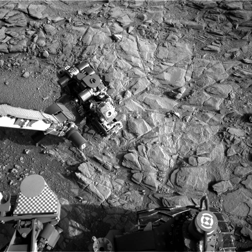 NASA's Mars rover Curiosity acquired this image using its Right Navigation Cameras (Navcams) on Sol 1097
