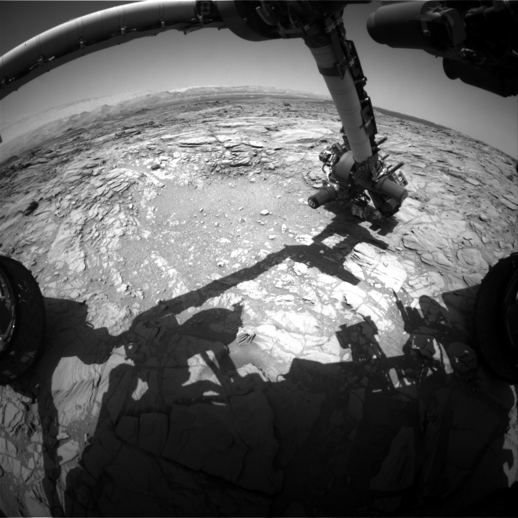 Nasa's Mars rover Curiosity acquired this image using its Front Hazard Avoidance Camera (Front Hazcam) on Sol 1098, at drive 2236, site number 49