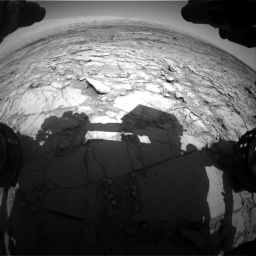 Nasa's Mars rover Curiosity acquired this image using its Front Hazard Avoidance Camera (Front Hazcam) on Sol 1098, at drive 2338, site number 49