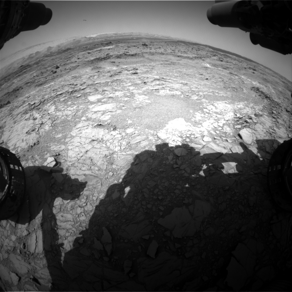 Nasa's Mars rover Curiosity acquired this image using its Front Hazard Avoidance Camera (Front Hazcam) on Sol 1099, at drive 2374, site number 49