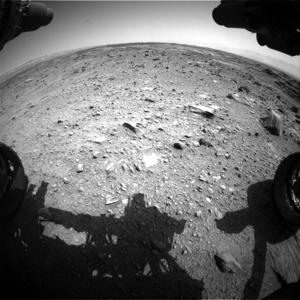 Nasa's Mars rover Curiosity acquired this image using its Front Hazard Avoidance Camera (Front Hazcam) on Sol 1099, at drive 2626, site number 49