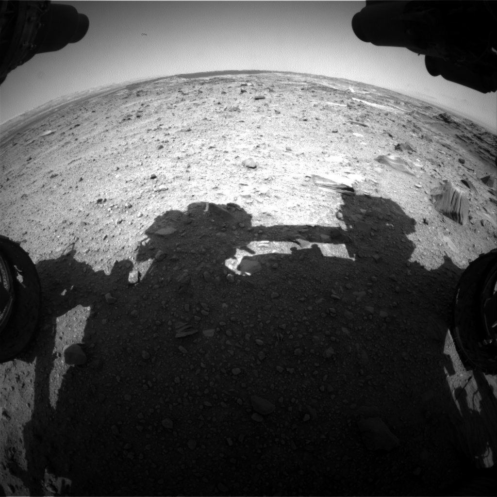 Nasa's Mars rover Curiosity acquired this image using its Front Hazard Avoidance Camera (Front Hazcam) on Sol 1100, at drive 2626, site number 49