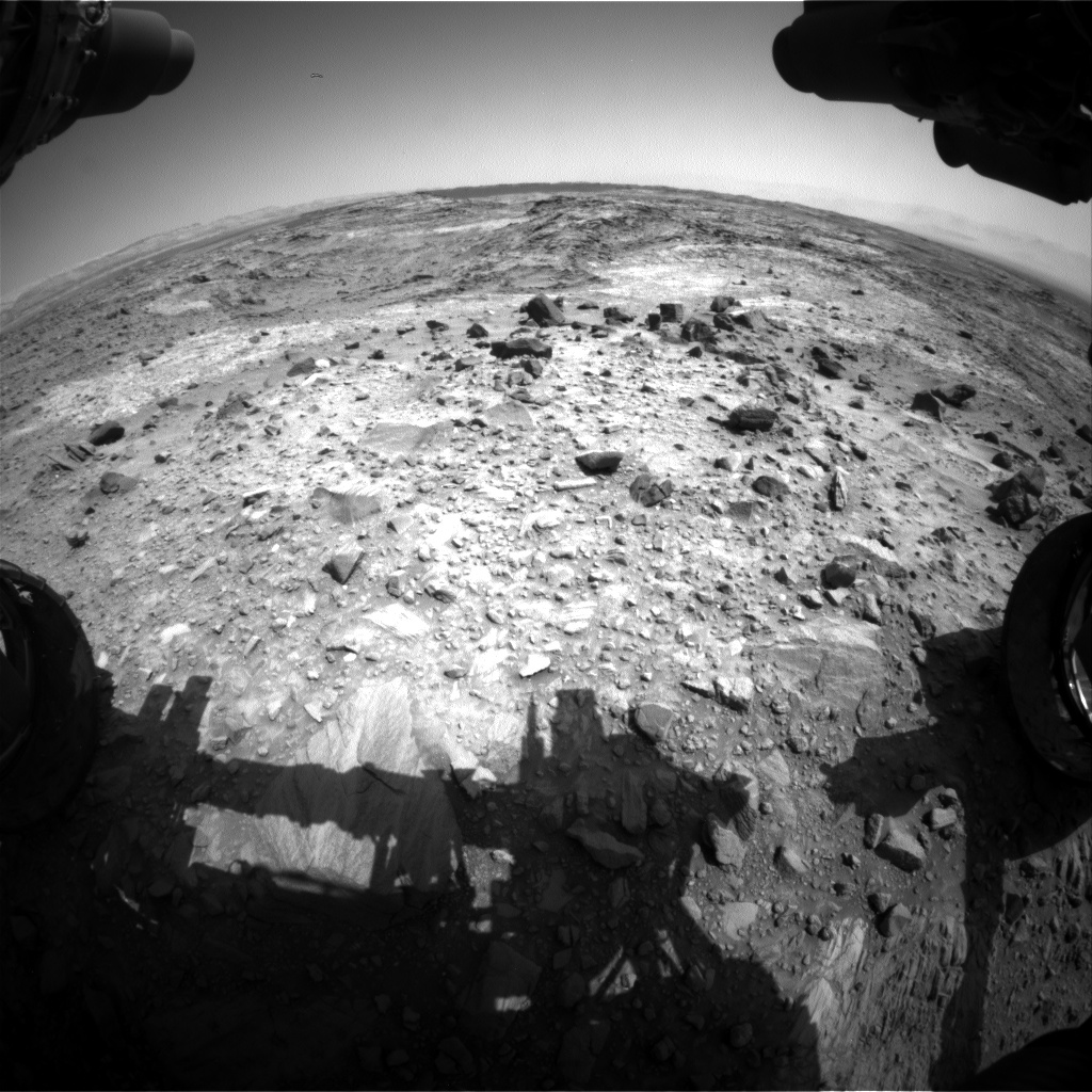 Nasa's Mars rover Curiosity acquired this image using its Front Hazard Avoidance Camera (Front Hazcam) on Sol 1100, at drive 2902, site number 49