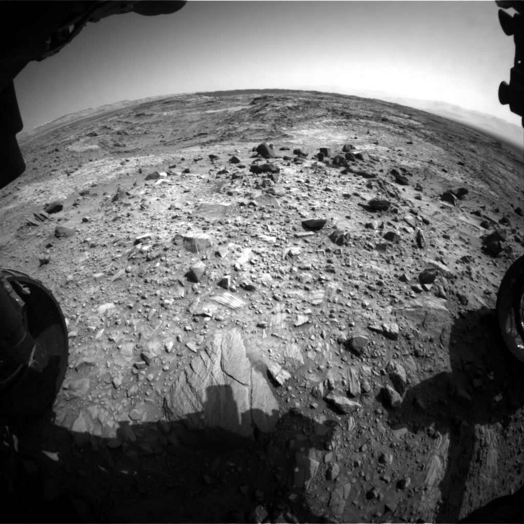 Nasa's Mars rover Curiosity acquired this image using its Front Hazard Avoidance Camera (Front Hazcam) on Sol 1102, at drive 2902, site number 49