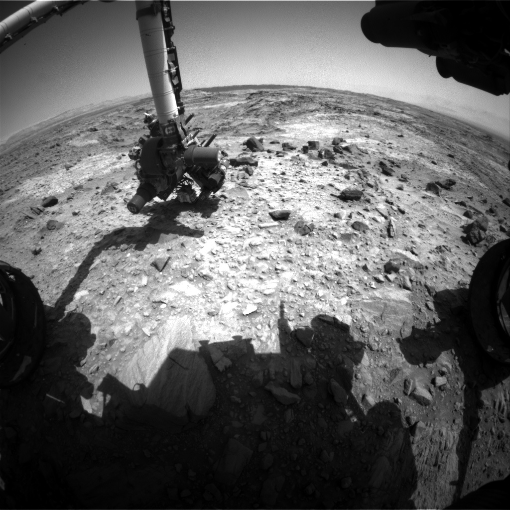 Nasa's Mars rover Curiosity acquired this image using its Front Hazard Avoidance Camera (Front Hazcam) on Sol 1103, at drive 2902, site number 49