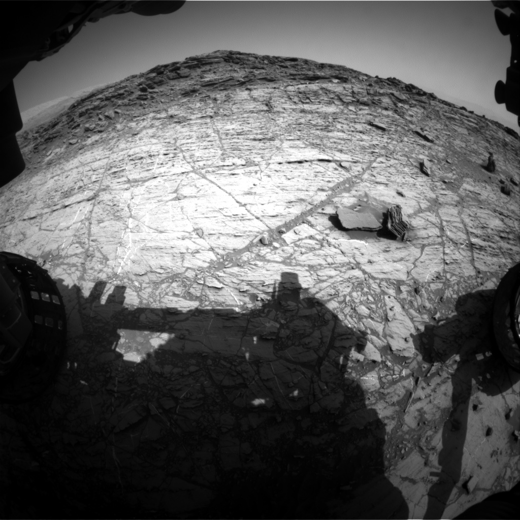 Nasa's Mars rover Curiosity acquired this image using its Front Hazard Avoidance Camera (Front Hazcam) on Sol 1104, at drive 0, site number 50