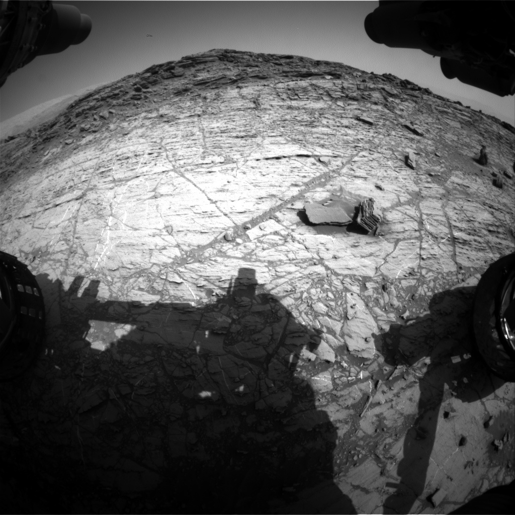 NASA's Mars rover Curiosity acquired this image using its Front Hazard Avoidance Cameras (Front Hazcams) on Sol 1104