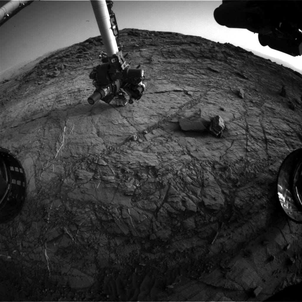 Nasa's Mars rover Curiosity acquired this image using its Front Hazard Avoidance Camera (Front Hazcam) on Sol 1105, at drive 0, site number 50