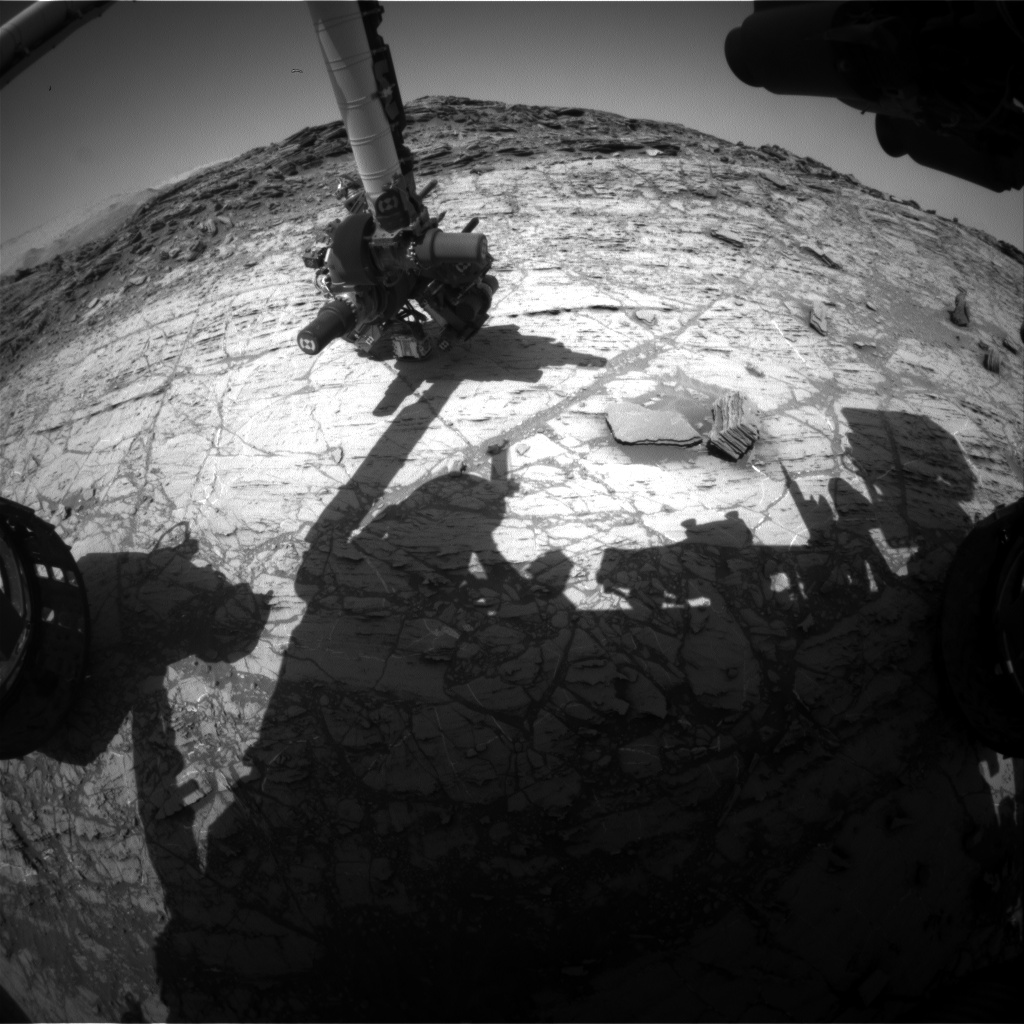 Nasa's Mars rover Curiosity acquired this image using its Front Hazard Avoidance Camera (Front Hazcam) on Sol 1106, at drive 0, site number 50