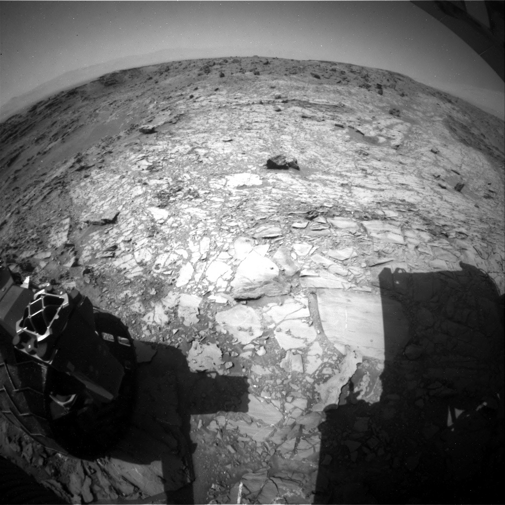 NASA's Mars rover Curiosity acquired this image using its Rear Hazard Avoidance Cameras (Rear Hazcams) on Sol 1106