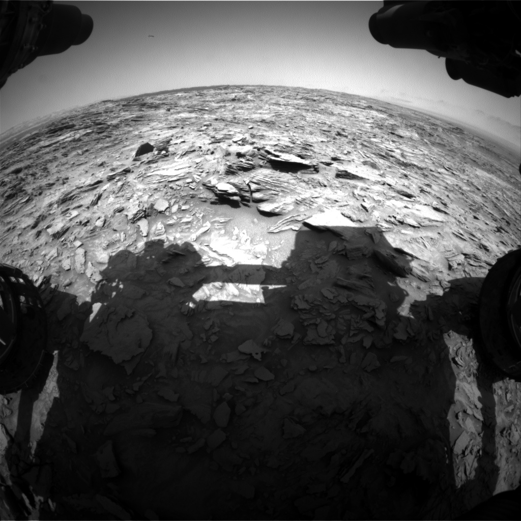 Nasa's Mars rover Curiosity acquired this image using its Front Hazard Avoidance Camera (Front Hazcam) on Sol 1107, at drive 114, site number 50
