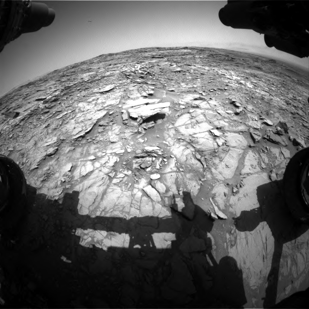 Nasa's Mars rover Curiosity acquired this image using its Front Hazard Avoidance Camera (Front Hazcam) on Sol 1107, at drive 250, site number 50