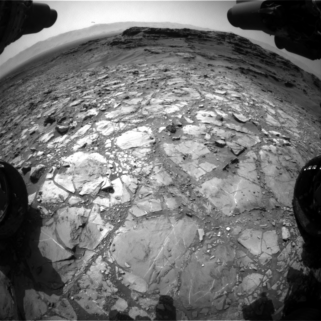 Nasa's Mars rover Curiosity acquired this image using its Front Hazard Avoidance Camera (Front Hazcam) on Sol 1108, at drive 322, site number 50