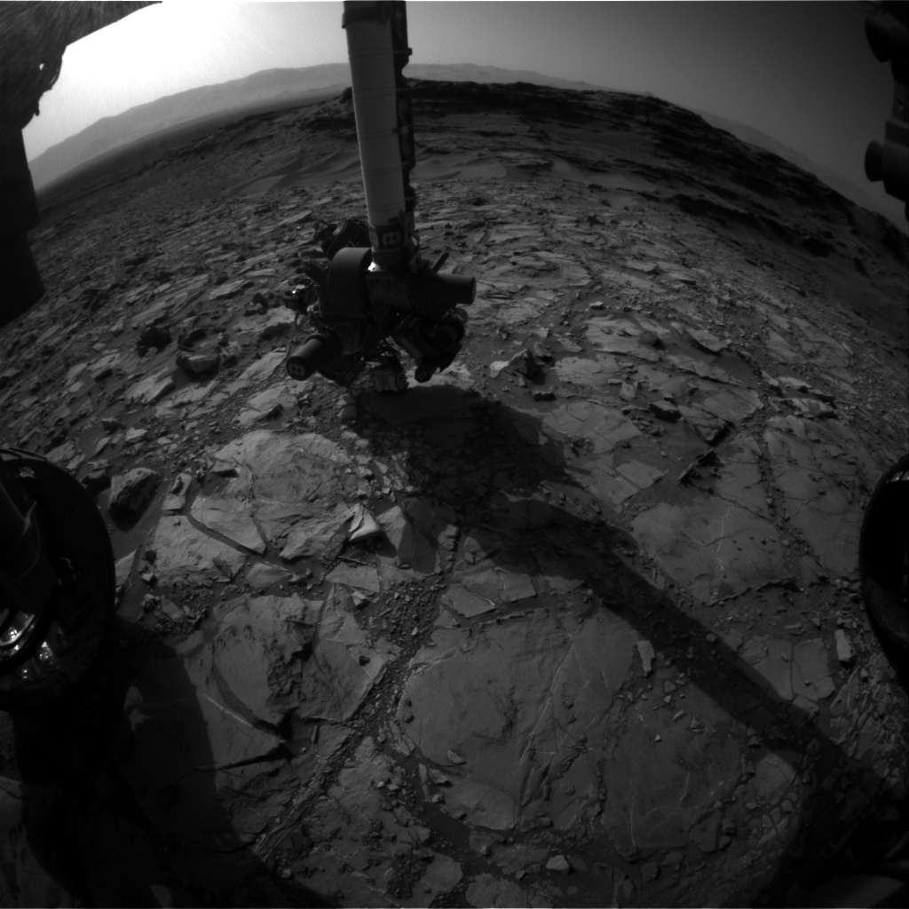 NASA's Mars rover Curiosity acquired this image using its Front Hazard Avoidance Cameras (Front Hazcams) on Sol 1109