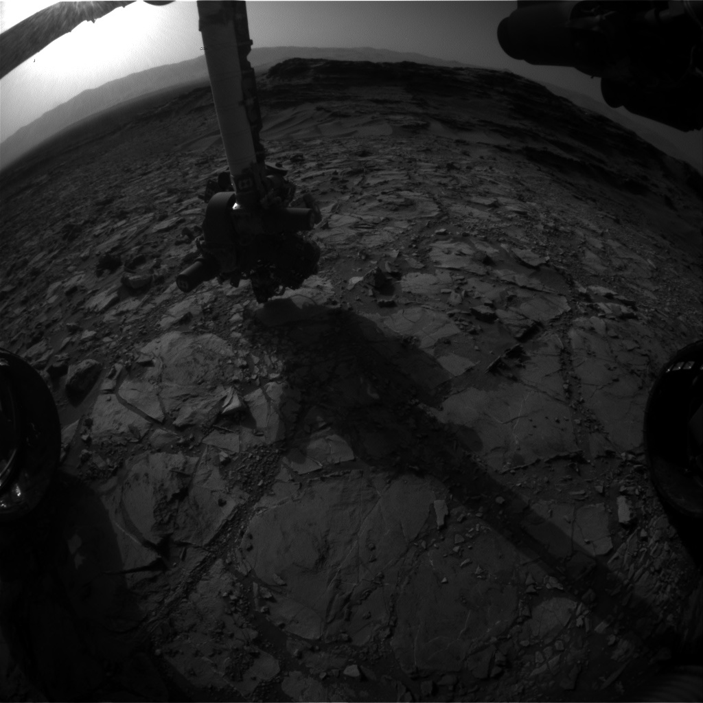 Nasa's Mars rover Curiosity acquired this image using its Front Hazard Avoidance Camera (Front Hazcam) on Sol 1109, at drive 322, site number 50