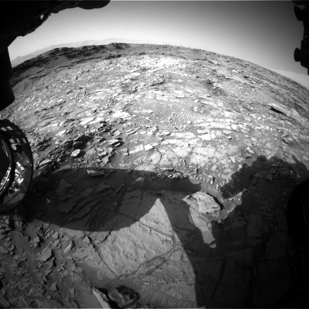 Nasa's Mars rover Curiosity acquired this image using its Front Hazard Avoidance Camera (Front Hazcam) on Sol 1110, at drive 448, site number 50