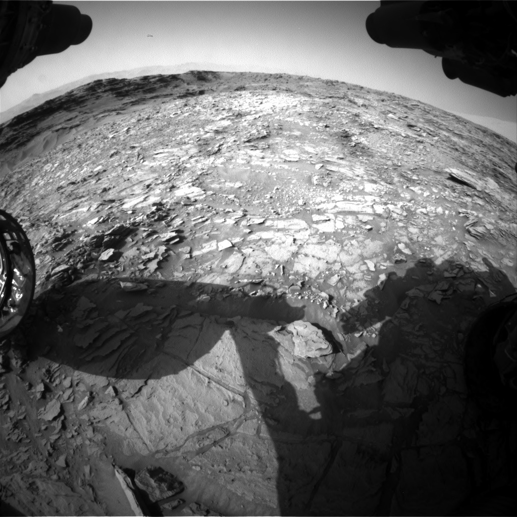 NASA's Mars rover Curiosity acquired this image using its Front Hazard Avoidance Cameras (Front Hazcams) on Sol 1110