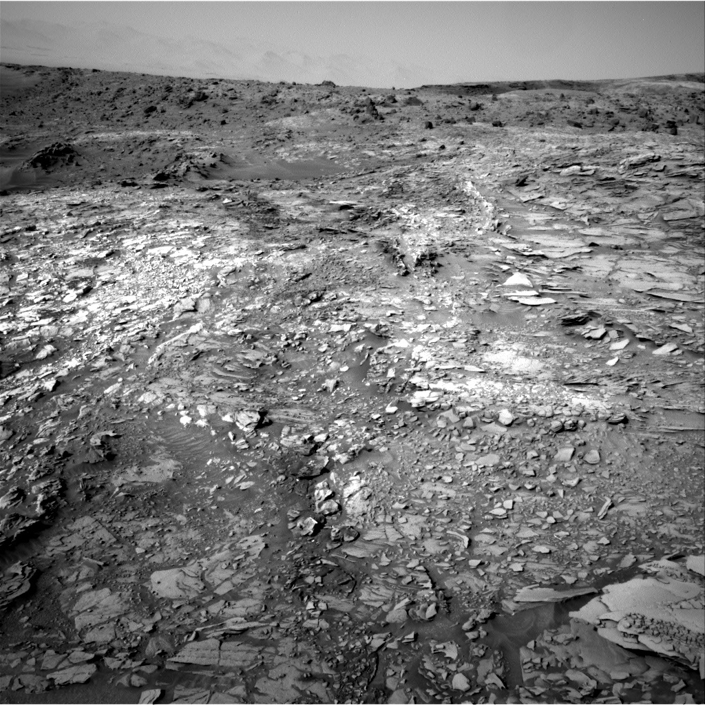 NASA's Mars rover Curiosity acquired this image using its Right Navigation Cameras (Navcams) on Sol 1110