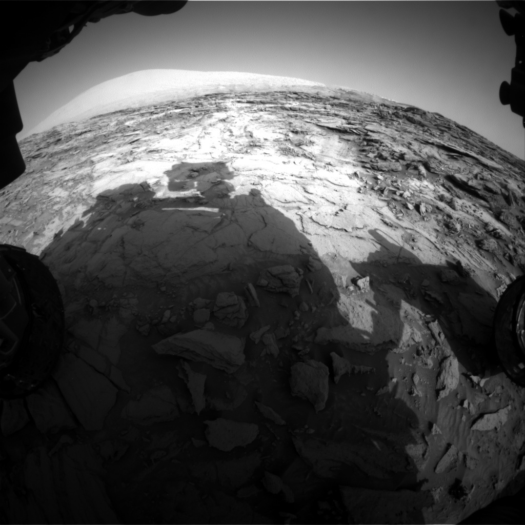 NASA's Mars rover Curiosity acquired this image using its Front Hazard Avoidance Cameras (Front Hazcams) on Sol 1112