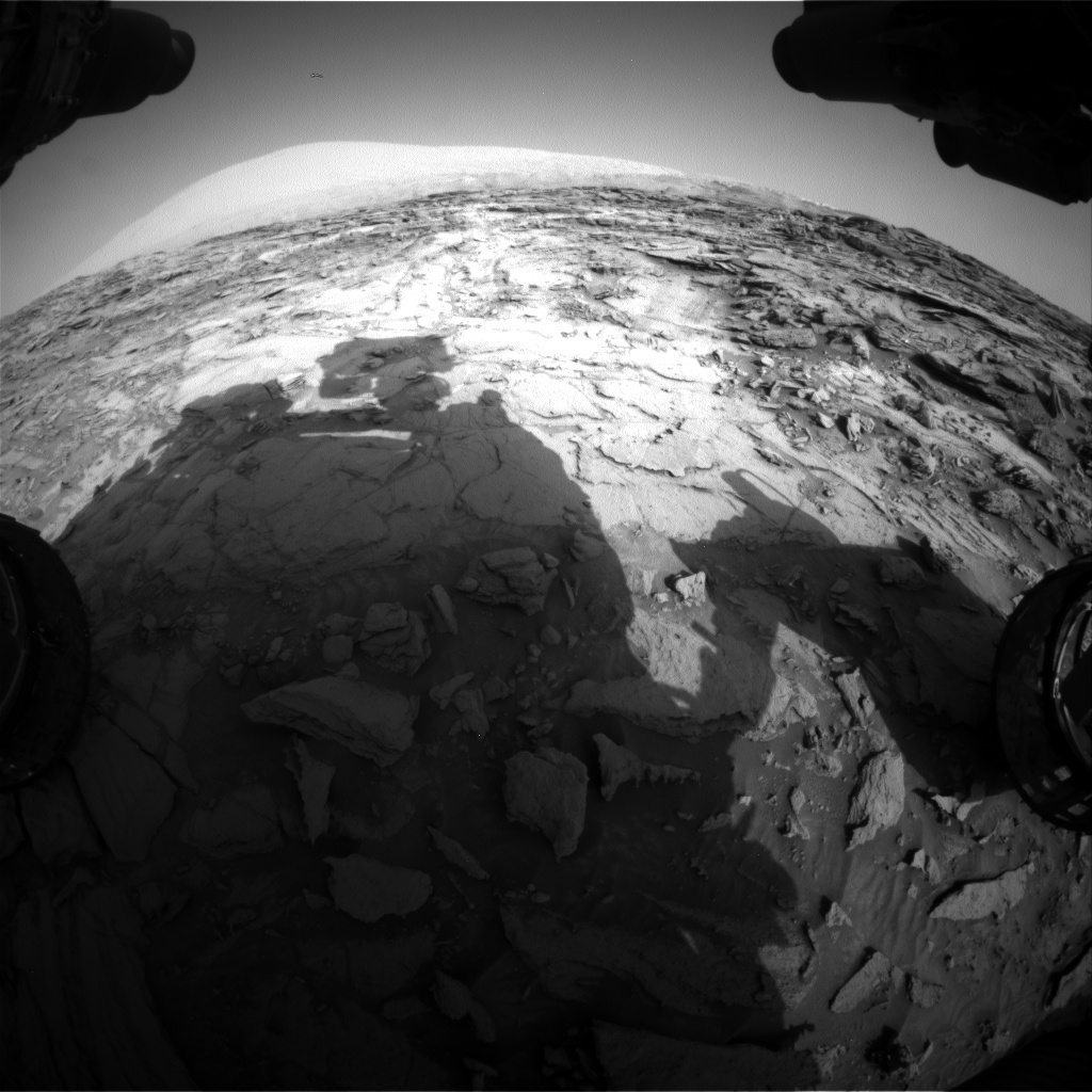 Nasa's Mars rover Curiosity acquired this image using its Front Hazard Avoidance Camera (Front Hazcam) on Sol 1112, at drive 592, site number 50