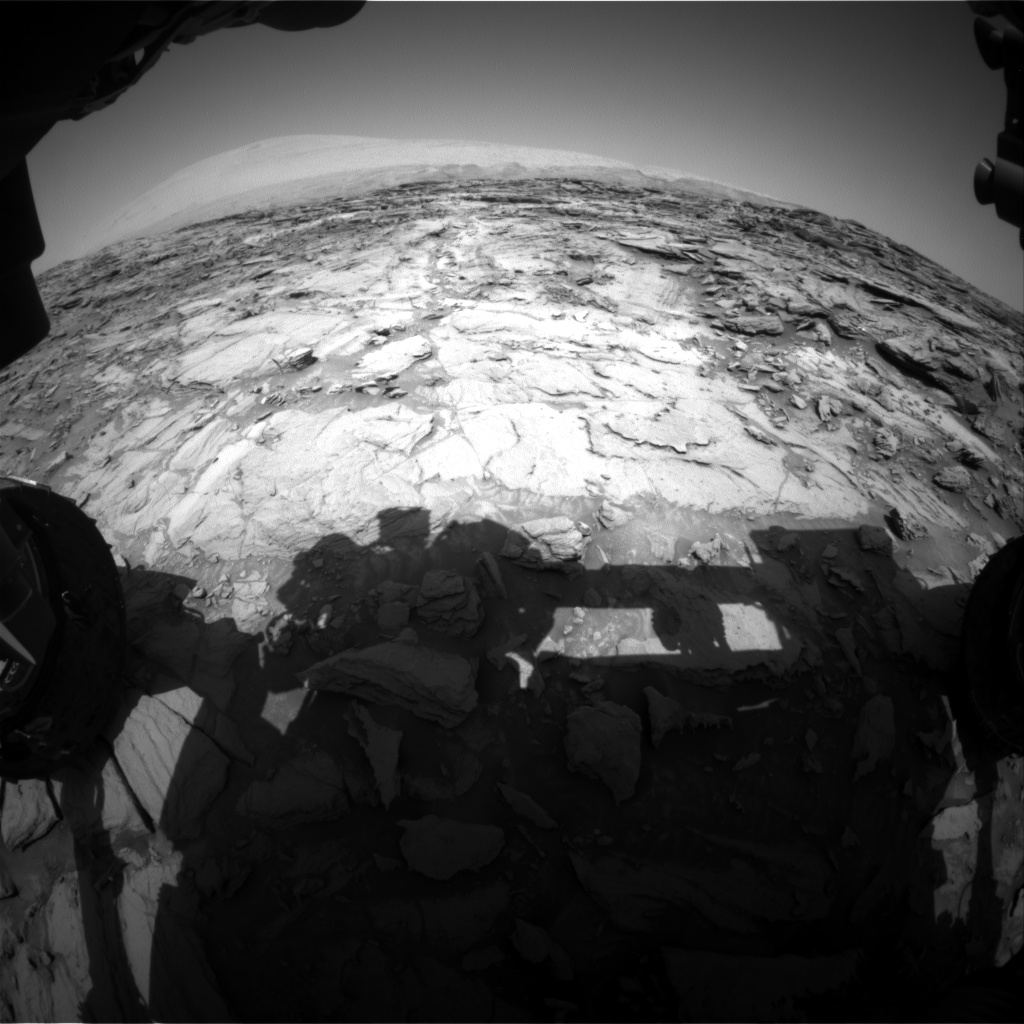 Nasa's Mars rover Curiosity acquired this image using its Front Hazard Avoidance Camera (Front Hazcam) on Sol 1113, at drive 592, site number 50
