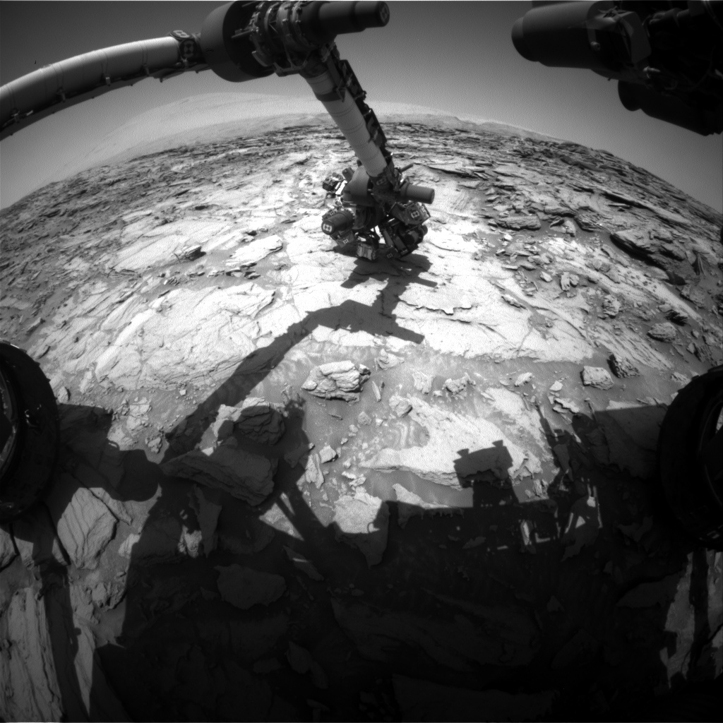 Nasa's Mars rover Curiosity acquired this image using its Front Hazard Avoidance Camera (Front Hazcam) on Sol 1115, at drive 592, site number 50