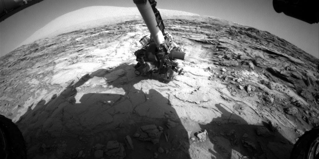 Nasa's Mars rover Curiosity acquired this image using its Front Hazard Avoidance Camera (Front Hazcam) on Sol 1116, at drive 592, site number 50