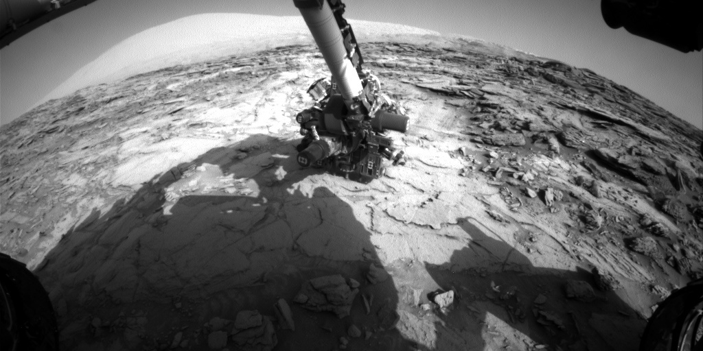 NASA's Mars rover Curiosity acquired this image using its Front Hazard Avoidance Cameras (Front Hazcams) on Sol 1116