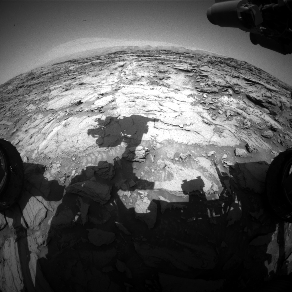 Nasa's Mars rover Curiosity acquired this image using its Front Hazard Avoidance Camera (Front Hazcam) on Sol 1117, at drive 592, site number 50