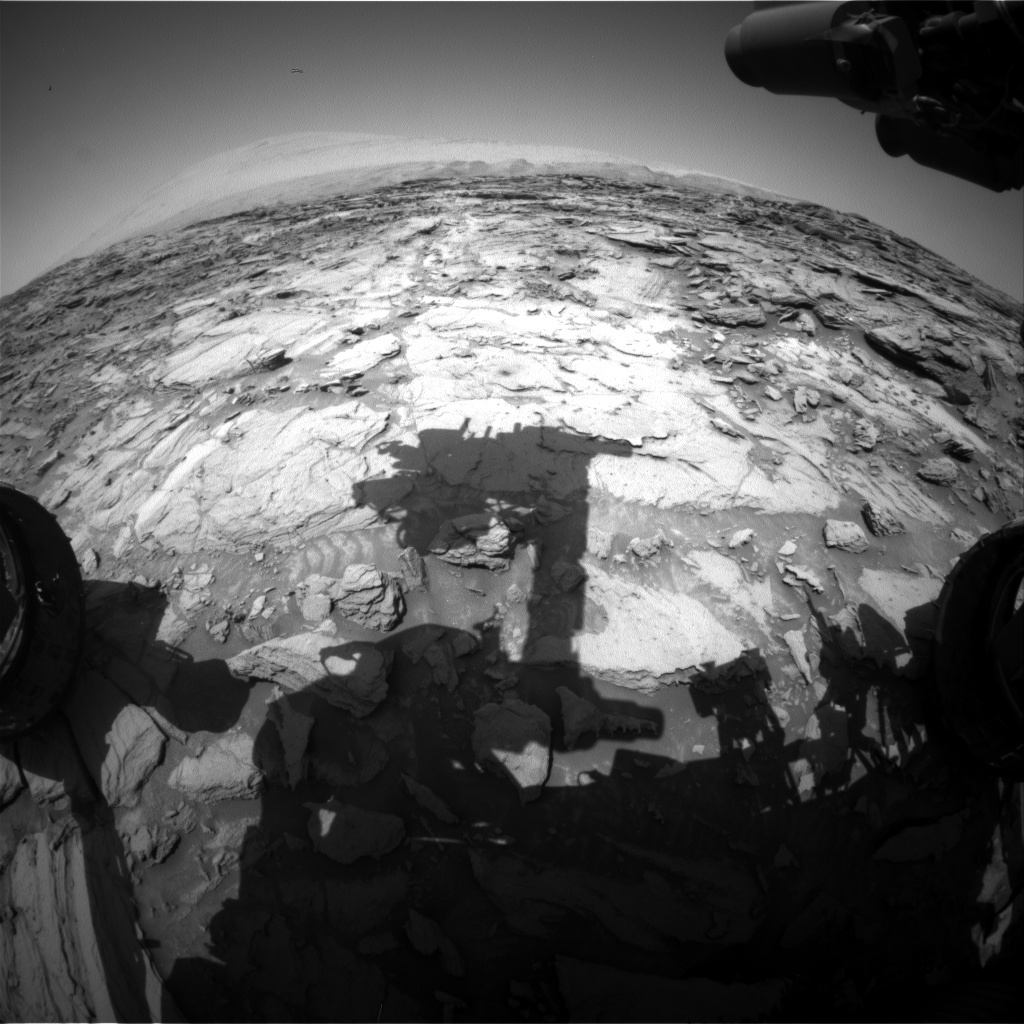 NASA's Mars rover Curiosity acquired this image using its Front Hazard Avoidance Cameras (Front Hazcams) on Sol 1118